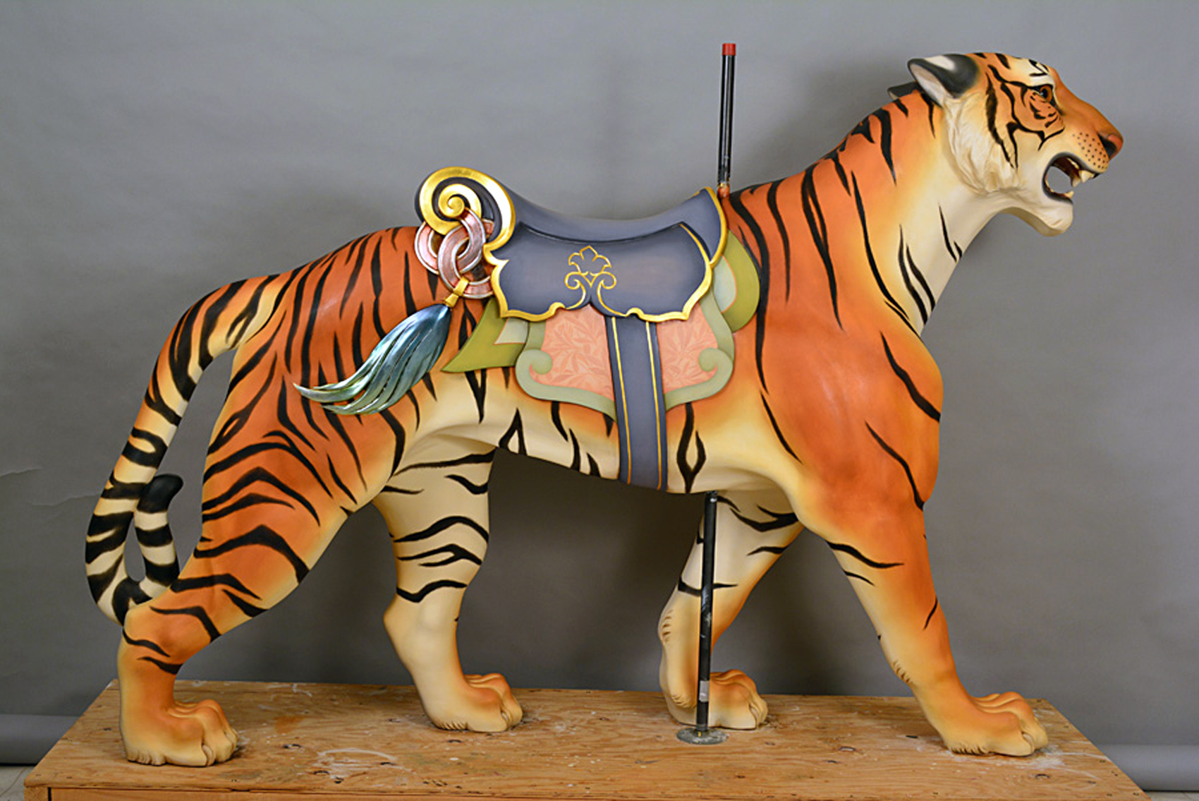Antique Detective 1909 Carousel Tiger